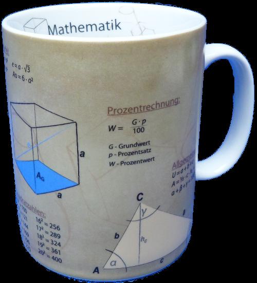 Porzellanbecher - Mathematik