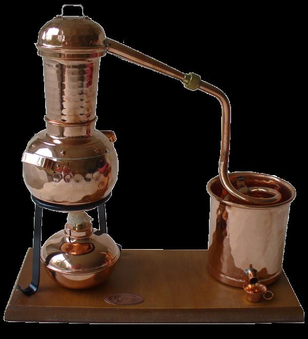 Destille mit Spiritusbrenner
